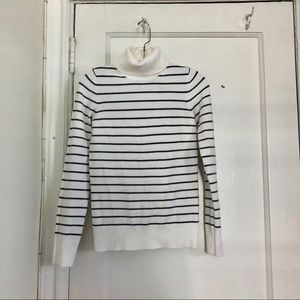 French Connection Striped Turtle Neck